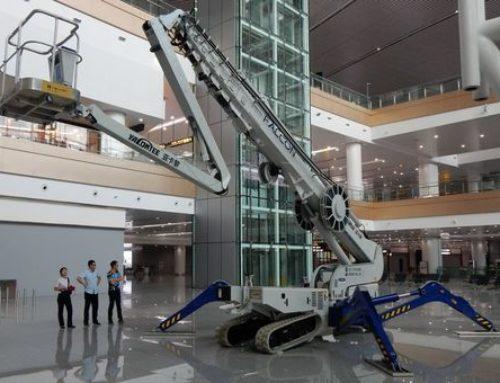 中国重庆江北国际机场收到了 52  米 Falcon FS520C 蜘蛛式升降机。